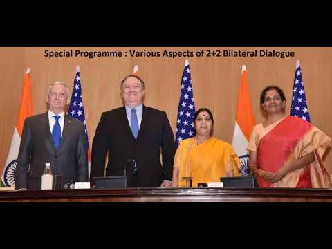 Special Program on two plus two dialogue between India and the US