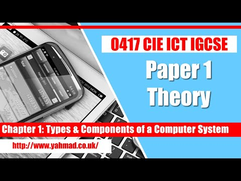 ICT IGCSE Chapter 1 Types & Components Of A Computer System