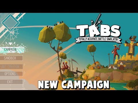 TABS NEW CAMPAIGN Gameplay! (Totally Accurate Battle Simulator New Update Campaign Gameplay Part 1)