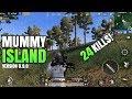MUMMY ISLAND! | 24 Kills Solo VS Squad | PUBG Mobile Version 0.9.0