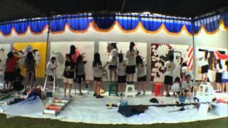 INDONUSA competition Serikat Mural Surabaya x Merlion school
