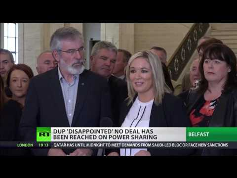 "Sinn Fein blames May's ""monumental failure"" for DUP talks collapsing"