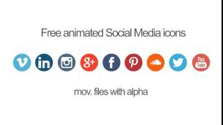 Free animated Social Media icons (download)