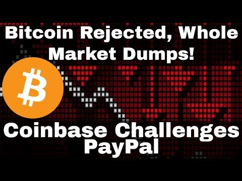Crypto News | Bitcoin Rejected, Whole Market Dumps! Coinbase Challenging Paypal