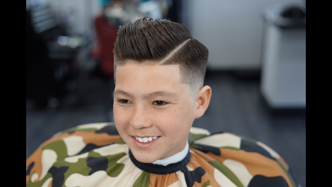 Barber Tutorial KIDS COMB OVER Transformation YouTube