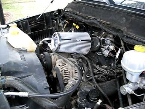 Dodge Ram Short Ram Intake Youtube