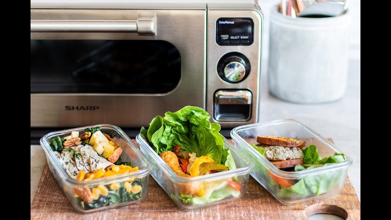 3 Whole30 Lunches in Sharp's Superheated Steam Countertop Oven