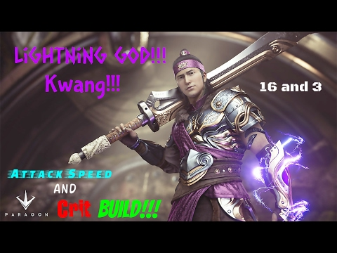 Paragon | Lightning God Kwang Build !!! [ Kwang Build ] (16 and 3 gameplay )