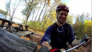 Gropro HD: Mountain biking on Potawatomi Trail.