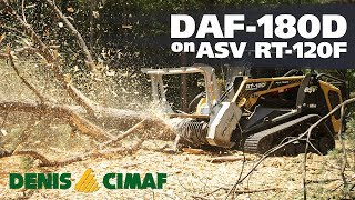 ASV RT-120F and DAF-180D - The specialized mulcher brushcutter that can handle all vegetation.
