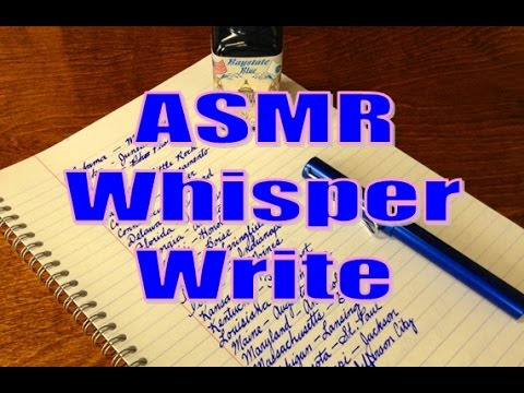 ASMR Whisper-Write - States and Capitals