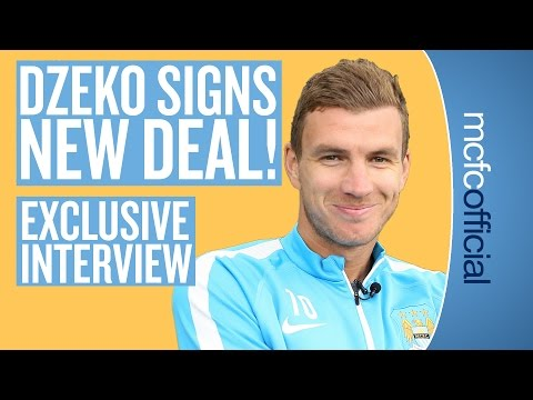 DZEKO SIGNS NEW CONTRACT   Man City's Edin Dźeko signs new four year deal
