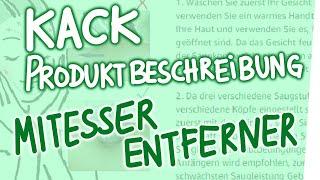 Kack-Produktbeschreibung – Mitesser-Entferner
