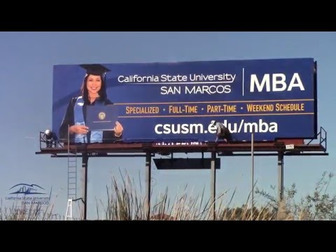 Cal State University San Marcos Billboard on Highway 78 - Billboard Install Video