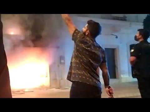 Peligroso incendio con heridos en la Calle Real de San Fernando