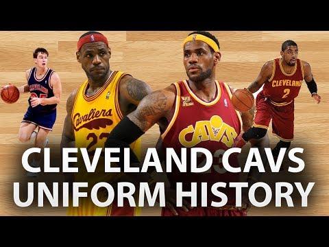 new style 63aca 863a4 NBA Uniform History | Cleveland Cavaliers - YouTube