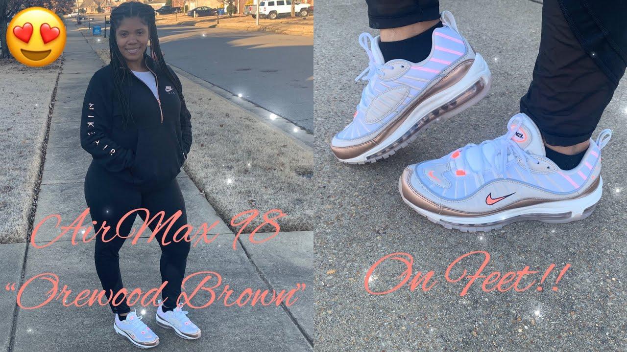 Airmax 98 Orewood Brown On Feet Women Youtube