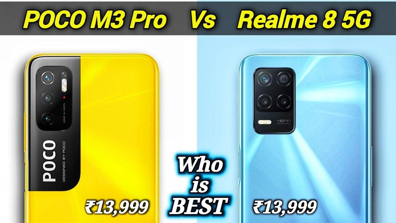 POCO M3 Pro Vs REALME 8 5G - Best 5G Smartphone Under 15000   Realme 8 5G vs POCO M3 Pro 5G