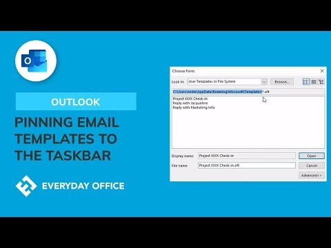Pinning Outlook Template Emails