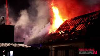 Nieuws van de dag: Grote uitslaande brand aan de Rembrandtlaan in Veghel