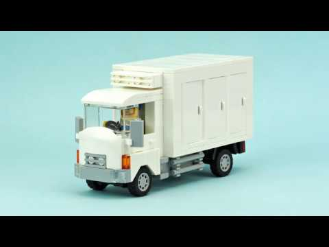 Lego Refrigerator Truck Moc Building Instructions Youtube
