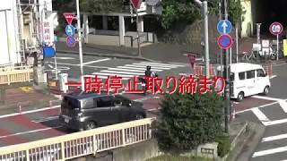 一時停止取り締まり (飯田橋駅東口) サイレン鳴らさずに標的に近づく白バイ thumbnail