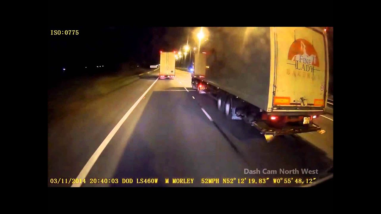 UK Driving Clips Lorry Push in rear ender YouTube