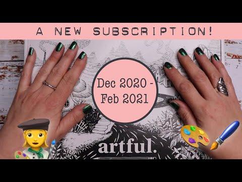 ARTFUL BOX UNBOXING | December 2020 - February 2021 | Ink | Art Supplies | Rhubarb & Burble | 📦🎨🖋🖌