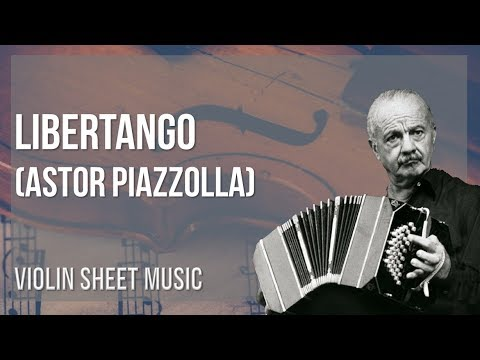 EASY Violin Sheet Music: How to play Libertango by Astor Piazzolla