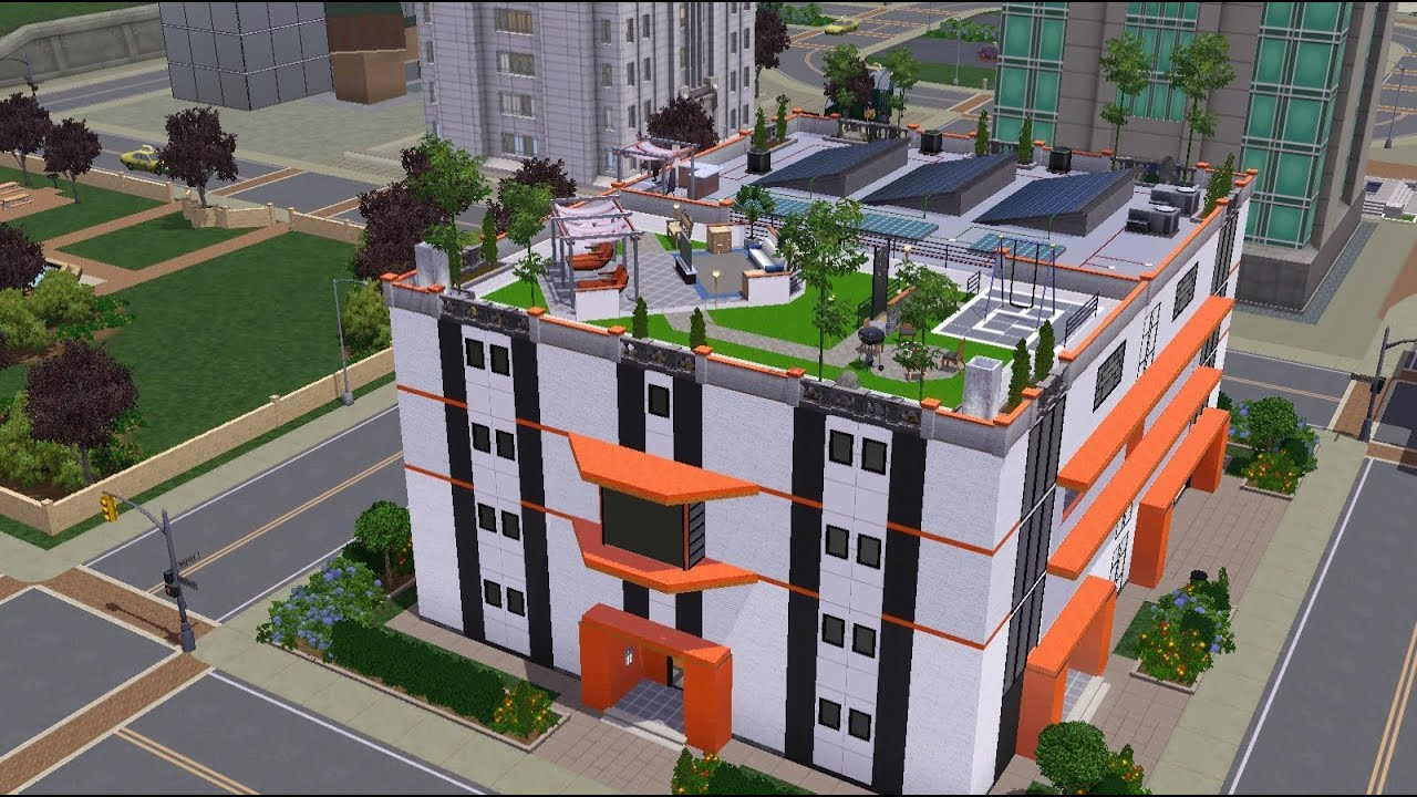 The sims 3 building an apartment orange apartment for Appartement design sims 3