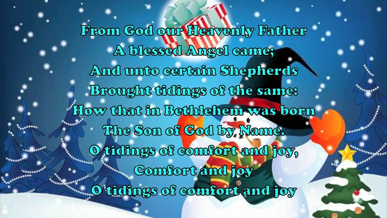 Glee God rest ye merry gentlemen with lyrics - YouTube