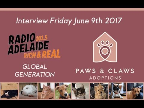 Radio Adelaide Interview Paws & Claws 2017