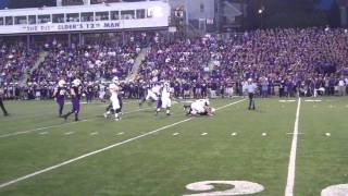 Trinity DL Adam Barry sacks Elder QB Ben Gramke