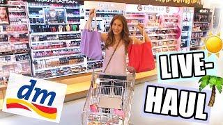 Ich darf alleine bei DM einkaufen! LIVE HAUL für die SOMMERFERIEN ♡ BarbaraSofie