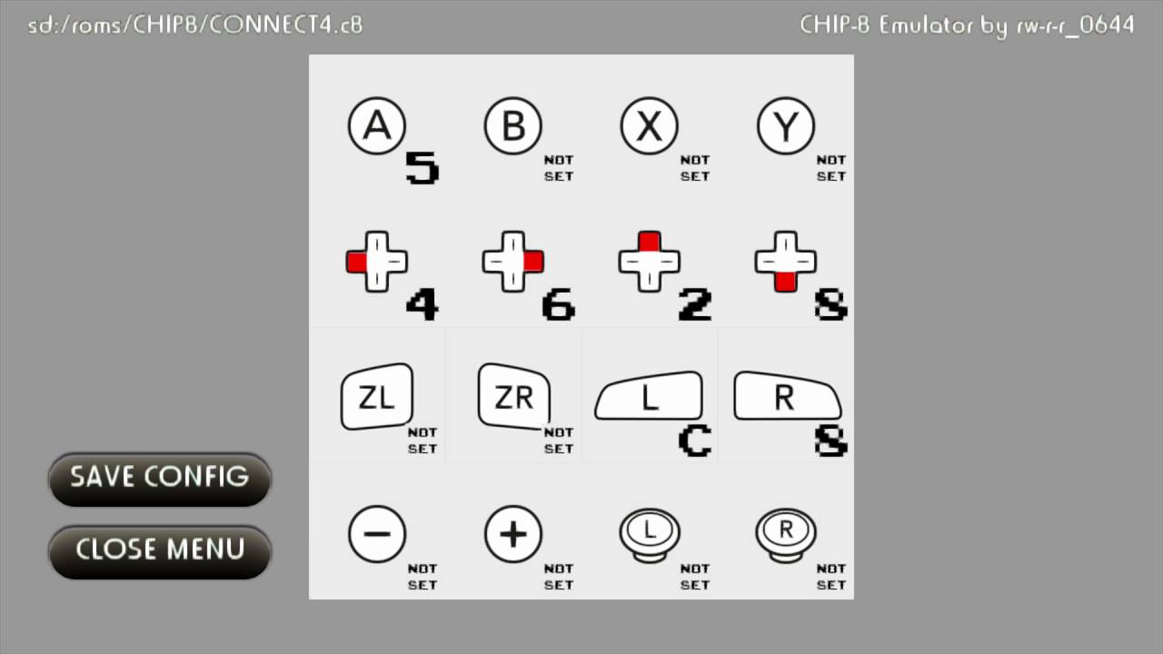 CHIP-8 Emulator on Wii U using GX2 graphics