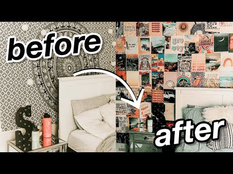 diy aesthetic wall collage (tezza inspired room transformation)