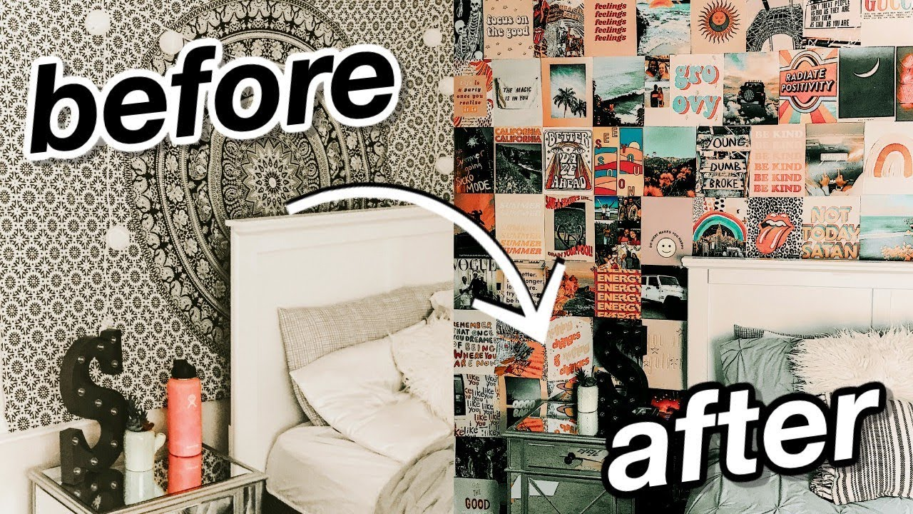 Diy Aesthetic Wall Collage Tezza Inspired Room Transformation Youtube