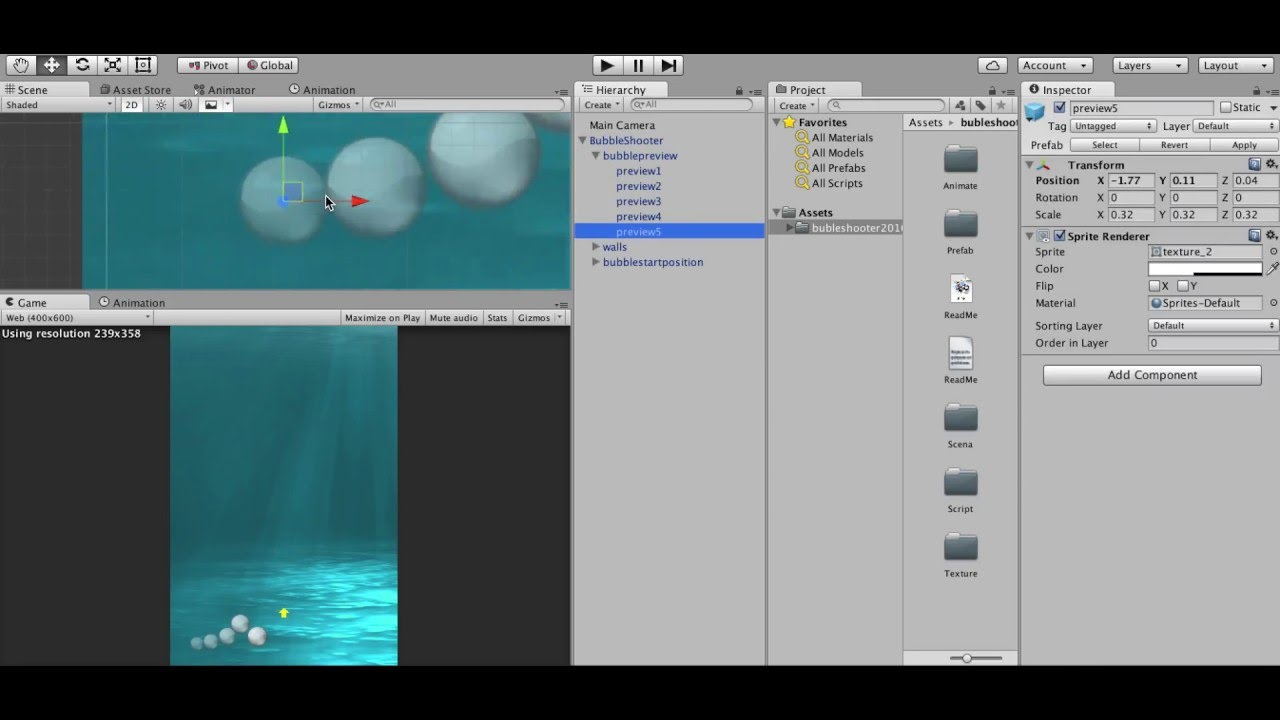 Bubble Shooter Asset Unity