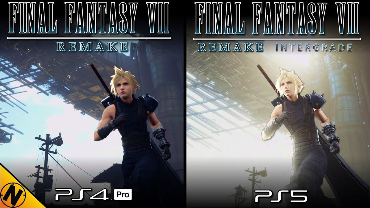 Final Fantasy VII Remake Intergrade PS5 vs PS4Pro   Direct Comparison