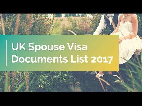 UK Spouse Visa Documents List 2017 | Applying for a Spouse Visa