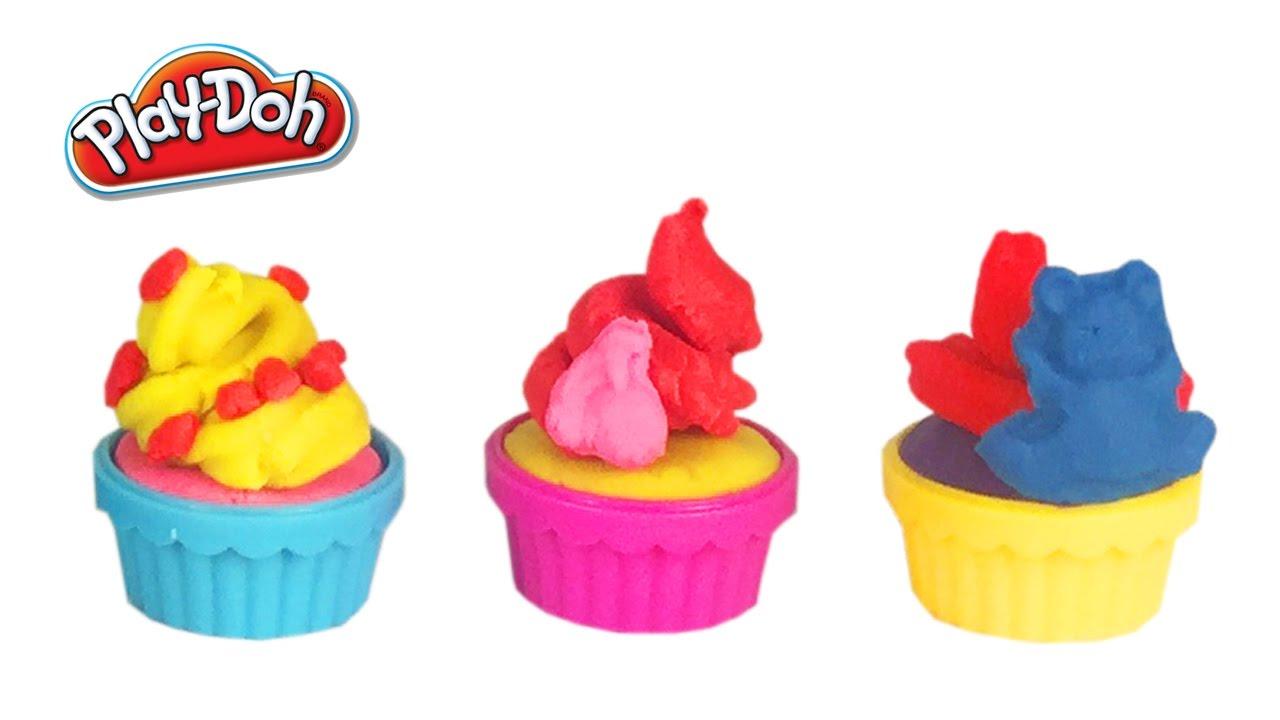 Playdoh Klei Cupcakes Speelgoed Set Filmpje Voor Kinderen Mickey