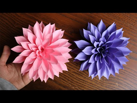 How To Make Paper Flower - Paper Craft - DIY  Paper Flowe
