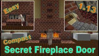 Minecraft Incredible Hidden Fireplace Door to Secret Base | Aquatic Update 1.13