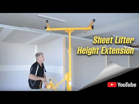 Fitting The Wallboard Sheet Lifter Height Extension Youtube