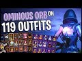 Ominous Orb Back Bling on 119 Outfits | Fate - Fortnite Cosmetics