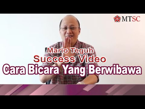 Cara Bicara Yang Berwibawa - Mario Teguh Success Video