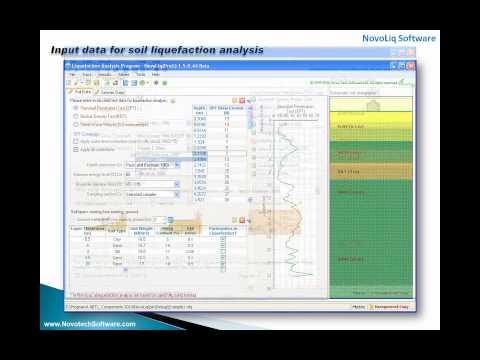 Soil Liquefaction Analysis Software (NovoLiq)
