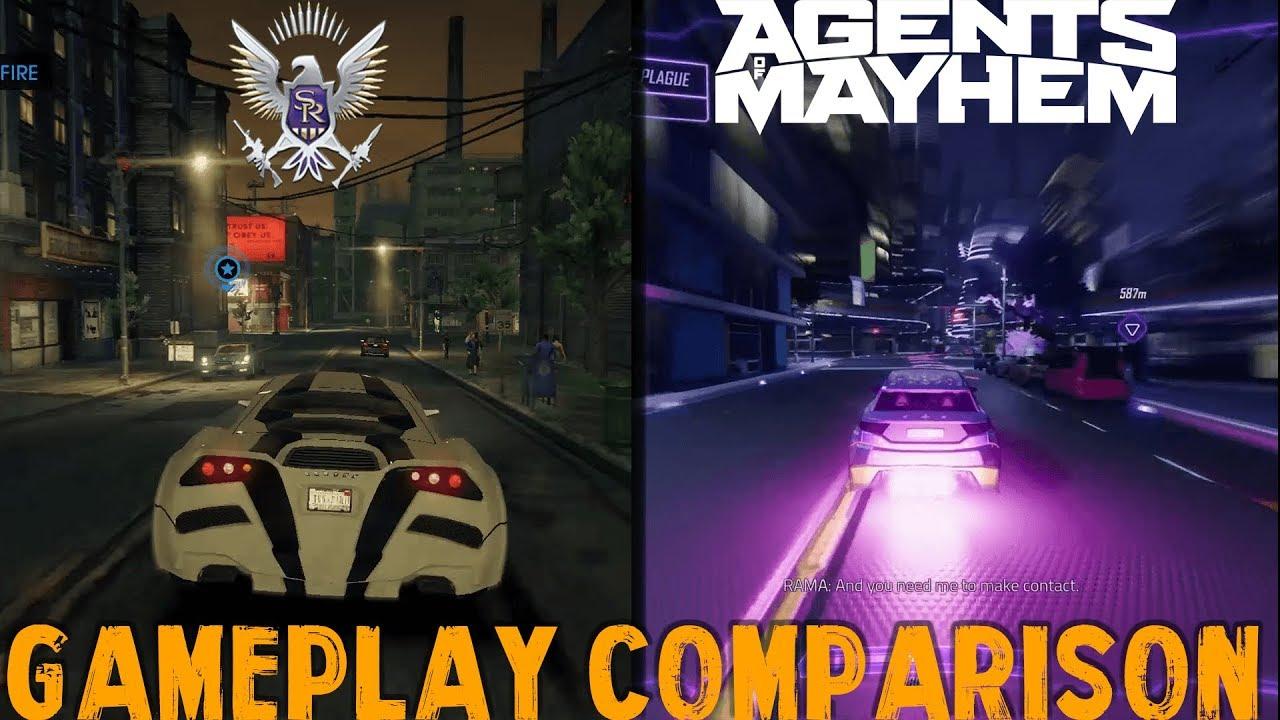 agents of mayhem vs saints row 4 gameplay comparison 1080p hd