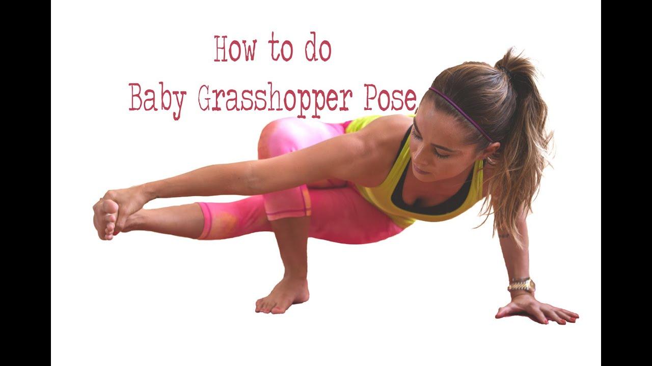 How to do Baby Grasshopper Pose
