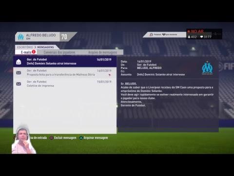FIFA18 | MODO CARREIRA TREINADOR | OM | #34 13k  TEMPORADA 2 JANELA ABERTA